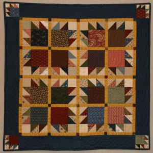 Bear Paws quilt syet i reproduktionsstoffer.